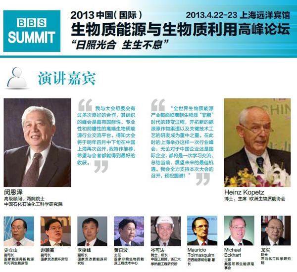 2013中国(国际)生物质能源与生物质利用高峰论坛