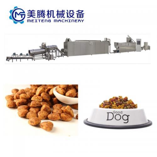 大型饲料生产线 宠物食品加工设备 膨化机